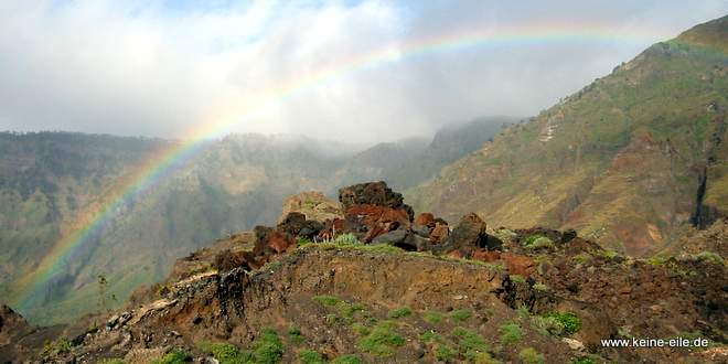 Radreise Kanaren: Bei Nieselregen und Regenbogen auf El Hierro