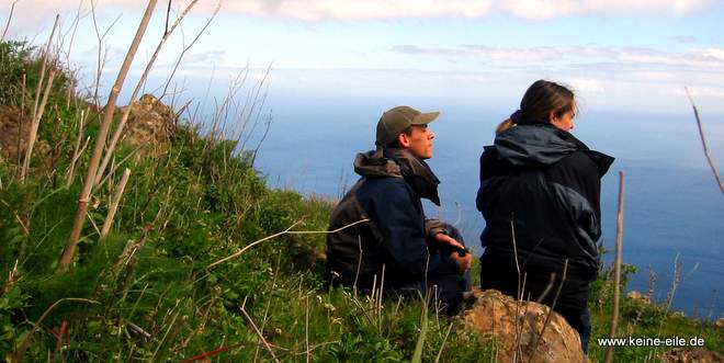 Radreise Kanaren - Ausblick genießen von El Hierro