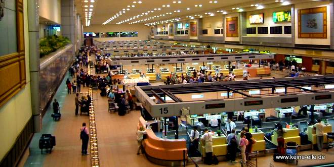 Der Flughafen in Bangkok