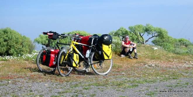 Radreise Teneriffa: Erschöpft auf dem Gipfel