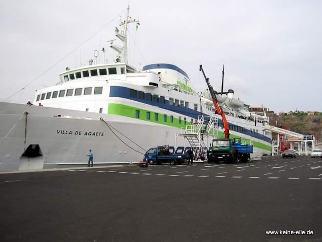 Radreise Kanaren: Die Fähre auf La Gomera
