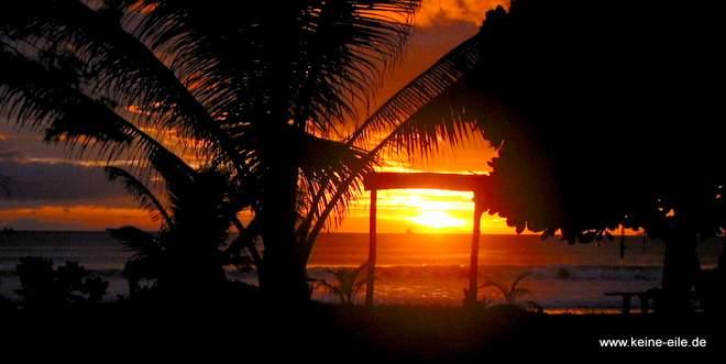 Thailand: Sonnenuntergang auf Ko Phayam