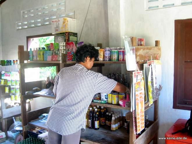 Supermarkt auf Ko Phayam, Thailand