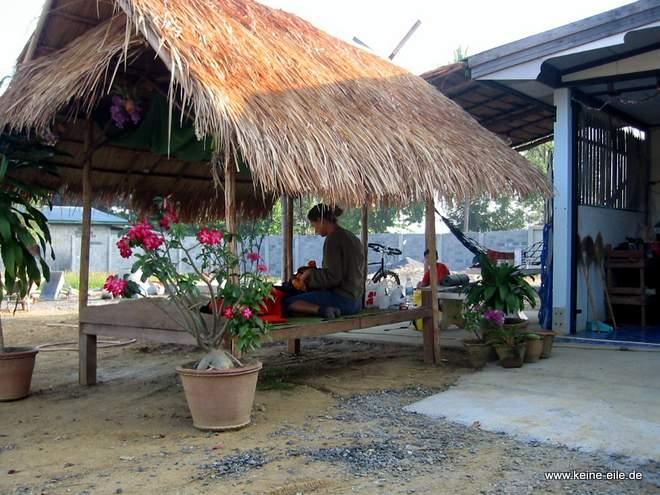 Unterkunft für die Nacht bei Harry und Boom in Pang Si Lathon, Thailand