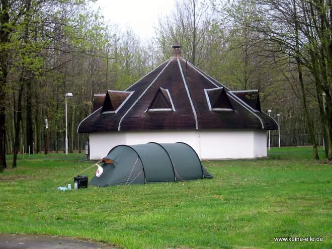 Radreise Ungarn: Campingplatz Gyula