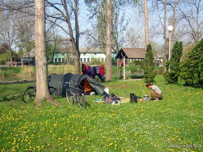 Radreise Ungarn: Campingplatz Szentes