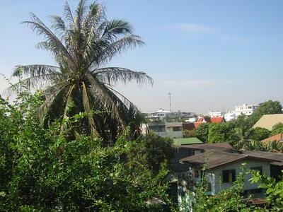 Rajdamnoen Hotel Bangkok - der Blick aus unserem Zimmer