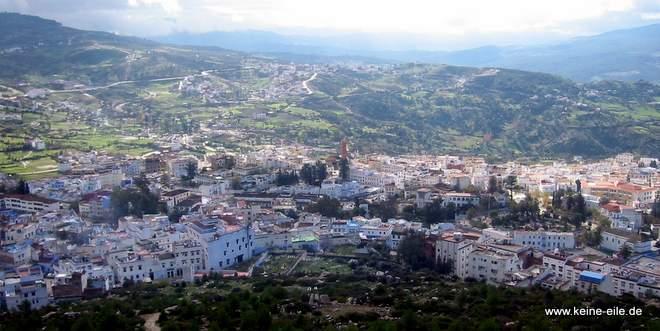 Roadtrip Marokko: Blick auf Chefchaouen