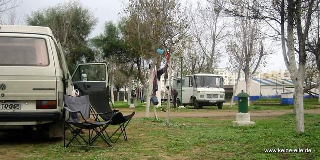 Roadtrip Marokko: Campingplatz Martil