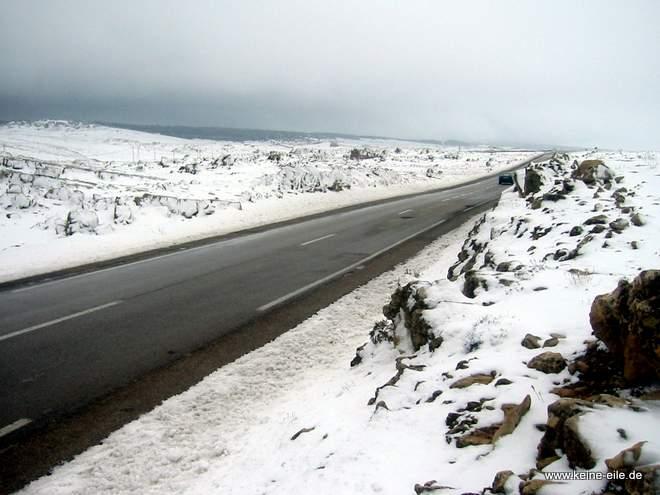 Roadtrip Marokko: Schnee im Atlas