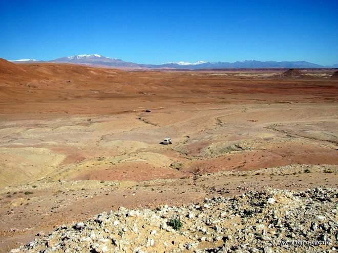 Roadtrip Marokko: steinige Landschaft