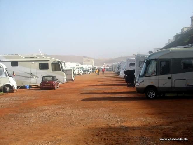 Roadtrip Marokko: Campingplatz in Sidi Ifni
