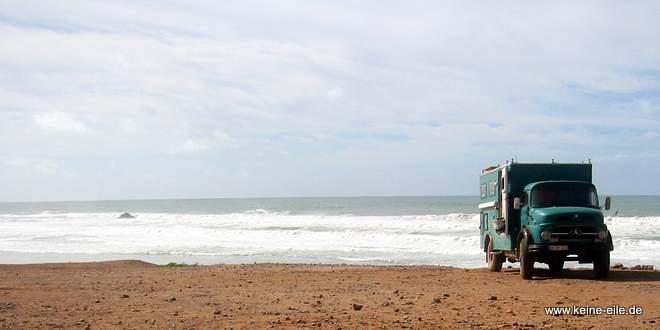 Kurzhauber am Strand von Marokko