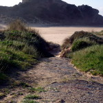 der Weg hinunter zur Praia do Amado