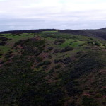 Blick vom gegenüberliegenden Hügel