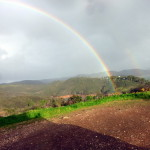 Regenbogen am Barragem Bravura