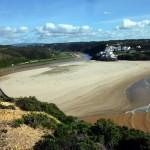 Praia do Seixe von der Klippe aus