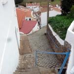Portugal, Algarve, Aljezur: Gasse in der Altstadt von Aljezur
