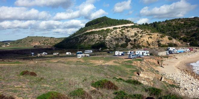 """Grüße vom Strand """"Boca do Rio"""" in der Algarve, Portugal"""