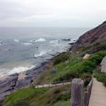 Portugal, Algarve, Praia do Carreagem-Blick auf die Felsen
