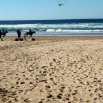 Portugal, Algarve, Aljezur, Praia do Vale Figueiras-Filmaufnahmen