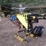 Portugal, Algarve, Aljezur, Praia do Vale Figueiras-Hubschrauber des Filmteams