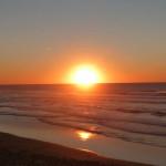Portugal, Algarve, Aljezur, Praia do Vale Figueiras-Sonnenuntergang
