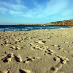Lucy am Praia Zavial, Algarve, Portugal
