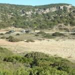 Parkplatz am Praia Barranco, Algarve, Portugal
