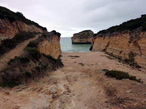Reisebericht Praia da Marinha, Algarve, Portugal: Der kleine Strand