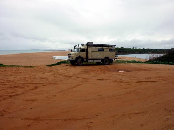 Am Strand von Quarteira