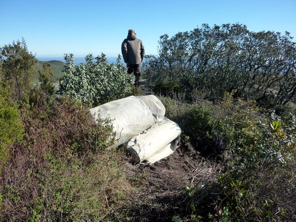 Picota, Algarve-Wer schleppt wohl 200 qm Auslegeware auf einen Berggipfel