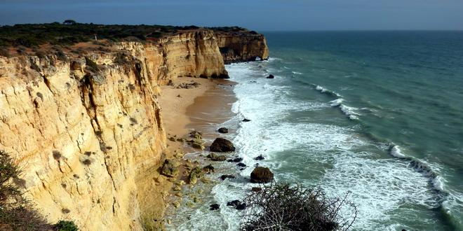 Klippen bei Ferragudo, Algarve,Portugal