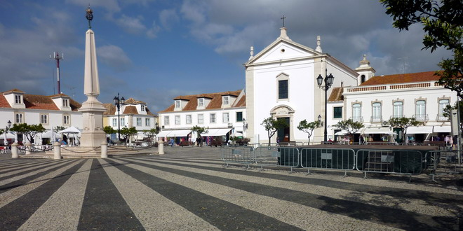 Vila Real de Santo António, Praca Pombal, Algarve, Portugal