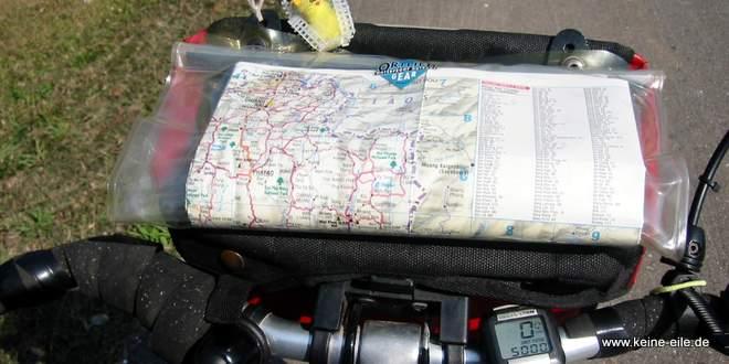 Packliste Backpacker Radreisen: Karten