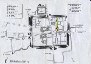 Karte von Sukhothai