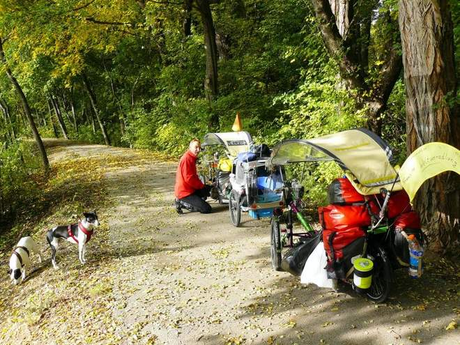 Reisen mit Rad und Hund in Österreich