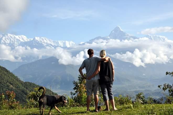 Abenteuer Hippie Trail: Faszinierende Sicht auf die Annapurna Gebirgskette