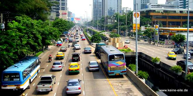Busfahren in Bangkok