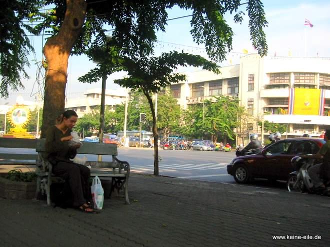 Radrundreise Thailand: Steffi in Bangkok