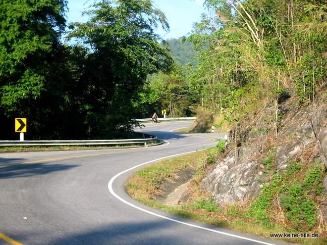 Gebirgsstraße in Thailand