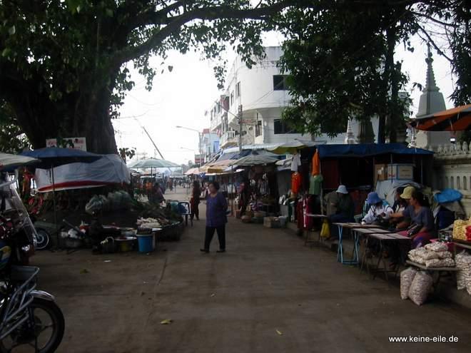 Markt in Mukdahan, Thailand