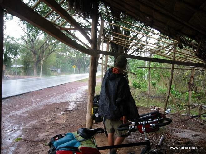 Radrundreise Thailand: Pause wegen Regen
