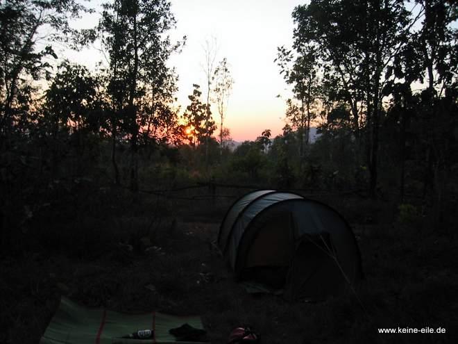 Da steht unser Zelt