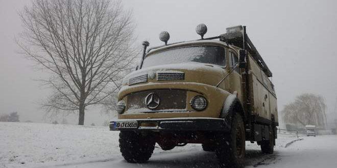Der erste Schnee für diesen Winter