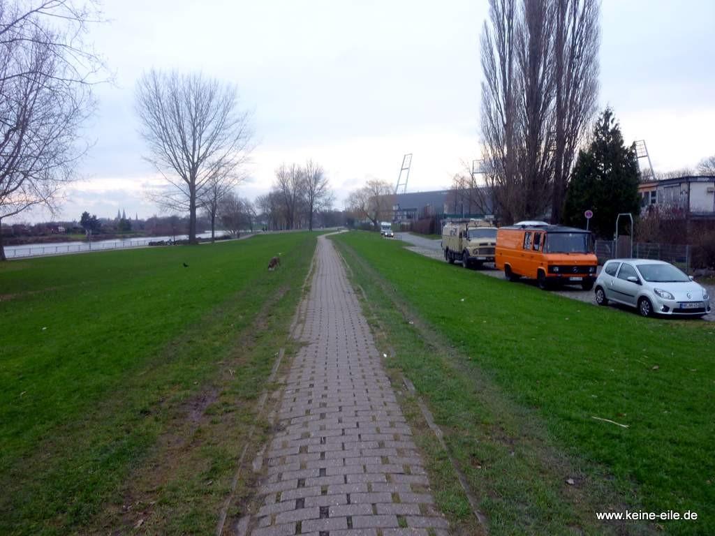 An der Weser in Bremen