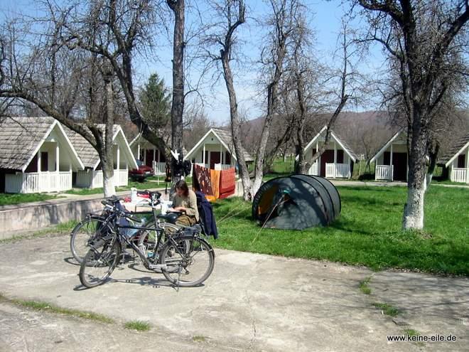 Radreise Rumänien: Campingplatz Cortea de Arges