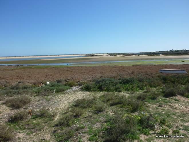 Die Ria Formosa bei Tavira, Algarve, Portugal