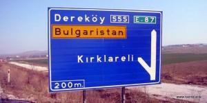Wegweiser Kirklareli, Türkeiq