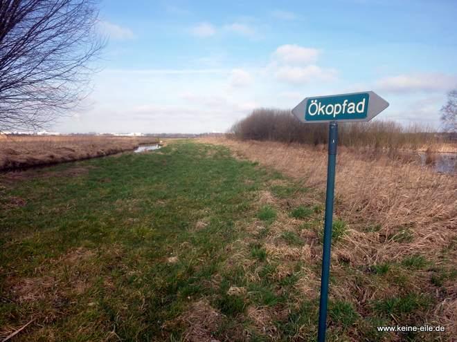 Der Wanderweg Ökopfad im Werderland, Bremen